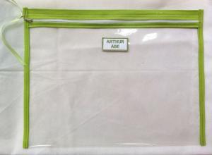 sacola transparente com zíper